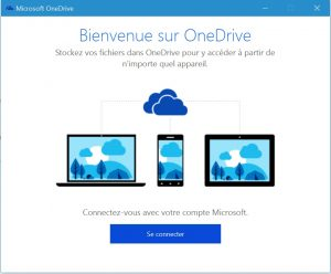 Accueil OneDrive